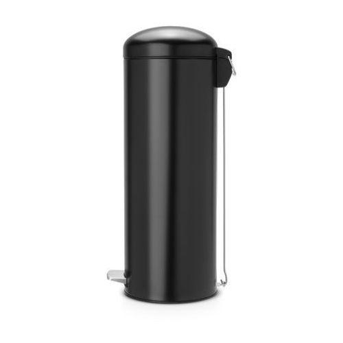 Brabantia  - kosz pedałowy 'retro' slimline - wiaderko plastikowe – 20l - czarny