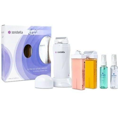 Podgrzewacz do wosku z bazą Sonobella Soft + 2 woski, paski i kosmetyki