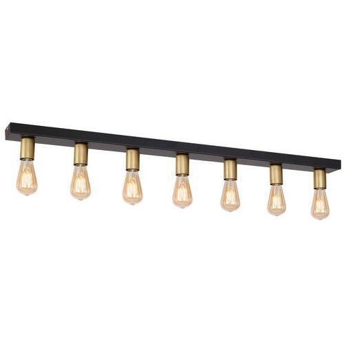 Luminex filo 1309 plafon lampa sufitowa 7x60w e27 czarny / złoty (5907565913095)