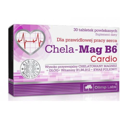 Tabletki Olimp chela-mag b6 cardio x 30 tabl powlekanych