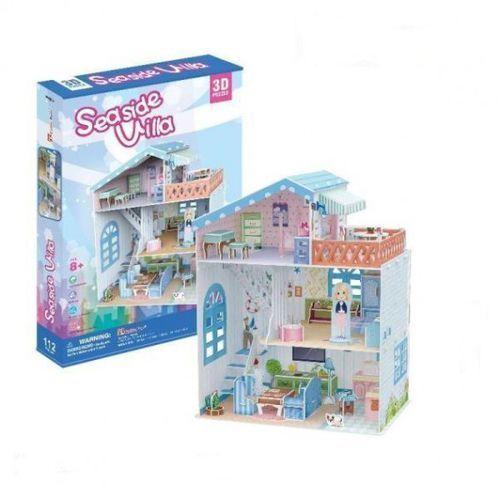 PUZZLE 3D Domek dla lalek Seaside Villa, 491973