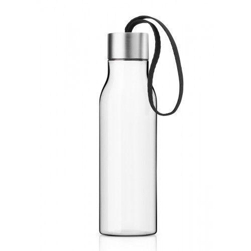 Butelka na wodę z troczkiem czarnym, 0,5 l - marki Eva solo