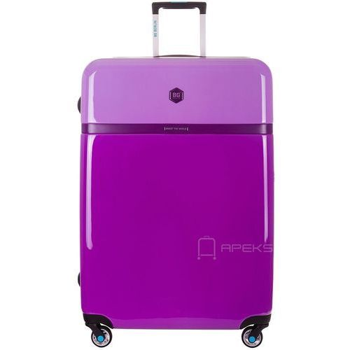 tri colors walizka lekka duża podróżna 77 cm / purple bloom - purple bloom marki Bg berlin