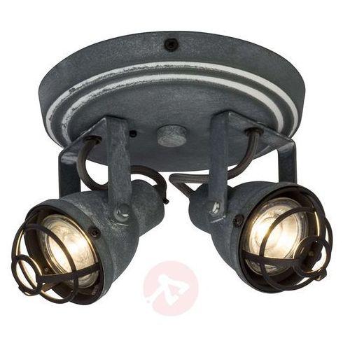 Brilliant Lampa na planie koła bente, 2 regulowane spoty led (4004353247996)