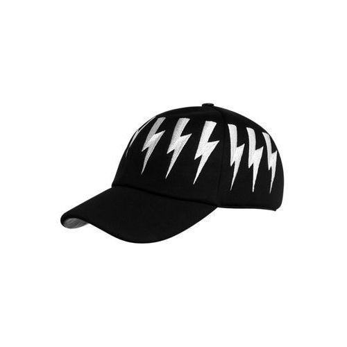 Neil Barrett BOLT Czapka z daszkiem black/off white z kategorii Nakrycia głowy i czapki