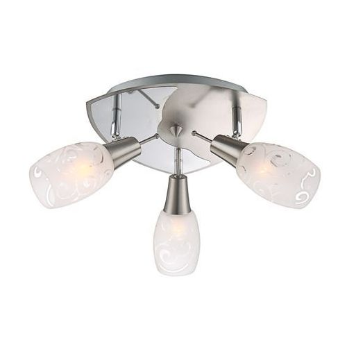 Plafon lampa oprawa sufitowa florita 3x40w e14 chrom 54984-3 marki Globo