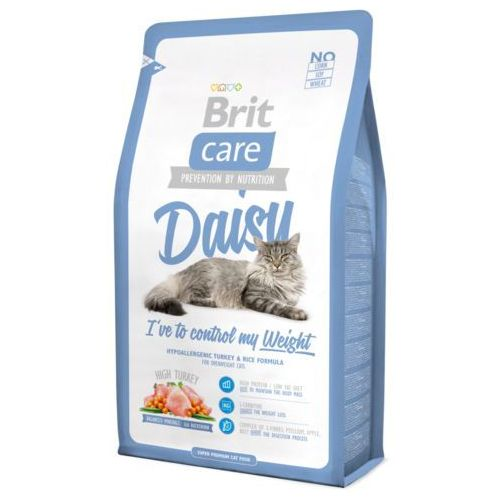 Brit care cat new daisy i've to control my weight turkey & rice 2kg (8595602505647)