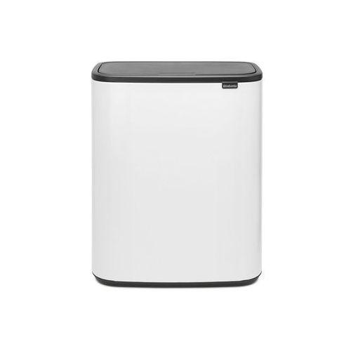 Brabantia - kosz bo touch bin, 2 x 30 l - biały - biały