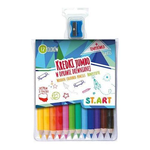 Kredki ołówkowe Start Jumbo 12kol. + temperówka x1