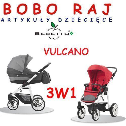 Wózek głęboko spacerowy firmy  model vulcano+fotelik marki Bebetto