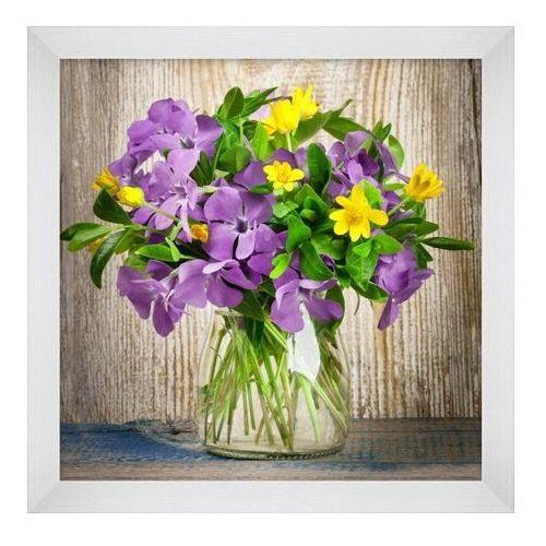 Obraz 20 x 20 cm Fioletowe kwiaty