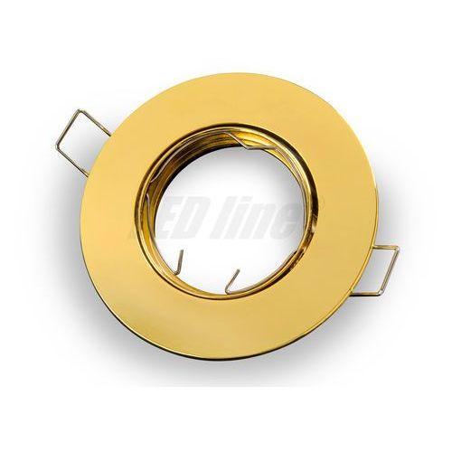 Oprawa halogenowa sufitowa okrągła ruchoma, odlew stopu aluminium - złota (5901583242878)