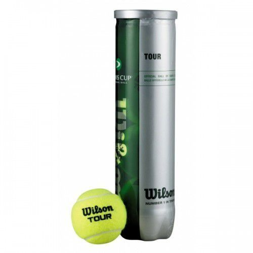 Piłki tenisowe tour davis cup 4 ball (4 szt) marki Wilson