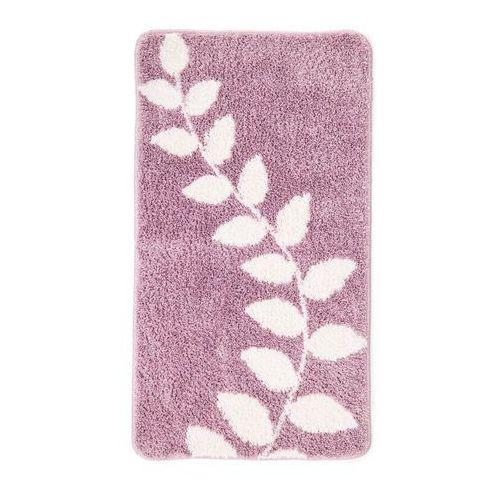 Bonprix Dywanik łazienkowy z motywem roślinnych pnączy jasnoróżowy