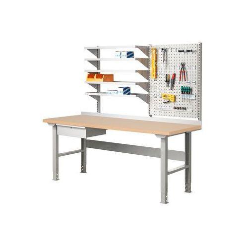 Stół roboczy ROBUST, z szufladą, 300 kg, 2000x800 mm, płyta HDF, 22472