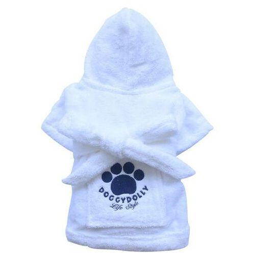 Doggy dolly szlafrok z łapą, biały, xxs 13-15 cm/26-28 cm - darmowa dostawa od 95 zł!