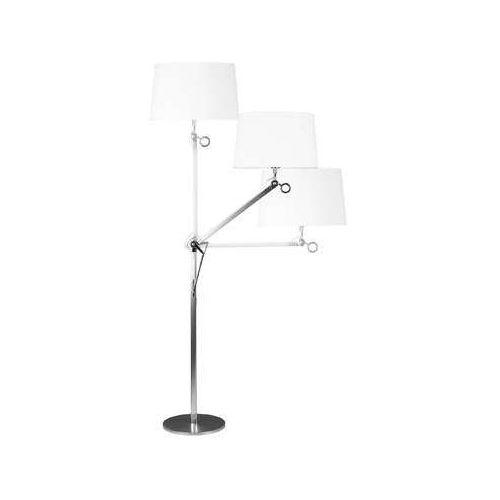 Lampa stojąca podłogowa big 1x60w e27 aluminium / biała f0006 marki Maxlight