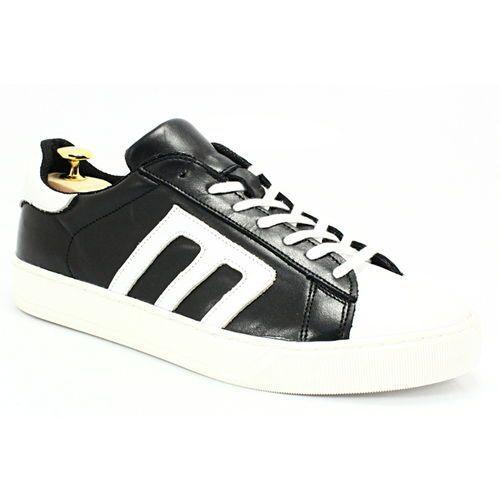 293m czarny-biały - skórzane buty sportowe - biały ||czarny marki Kent
