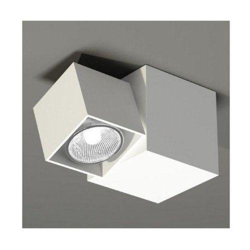 Kinkiet LAMPA ścienna BIZEN 2210 2210/GU10/BI Shilo natynkowa OPRAWA sufitowa REFLEKTOR prostokątny biały