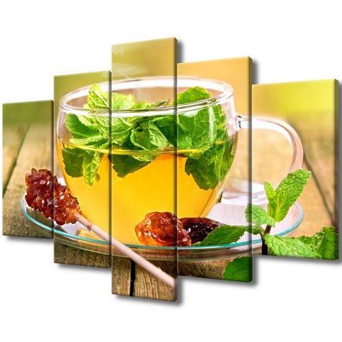 Obraz na płótnie herbatka miętowa cukier trzcinowy marki Cenodi