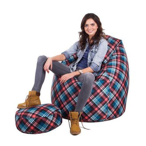 Pufa, fotel sako xxxl w tkaninie marki Polskie pufy