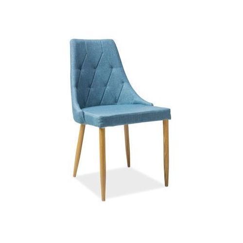 Krzesło metalowe SIGNAL TRIX II denim, Signal