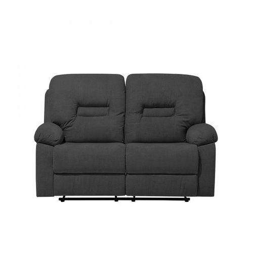 Sofa dwuosobowa tapicerowana ciemnoszara rozkładana Rinoceronte BLmeble, kolor szary