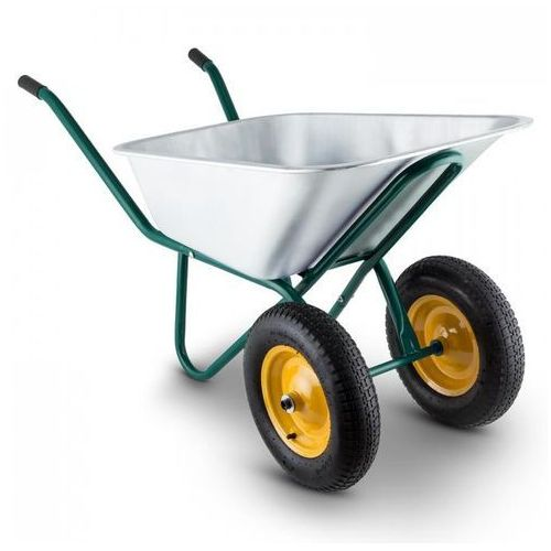 Heavyload taczka 120 l 320 kg taczka ogrodowa 2-kołowa stalowa zielona marki Waldbeck