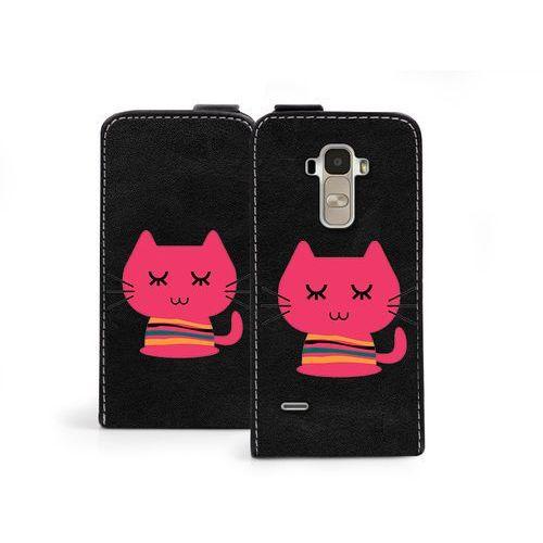 Flip Fantastic - LG G4 Stylus - etui na telefon Flip Fantastic - różowy kot - produkt z kategorii- Futerały i pokrowce do telefonów