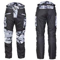 W-tec Męskie spodnie motocyklowe kaamuf, black camo, xxl