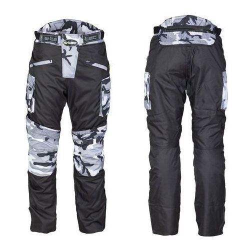 Męskie spodnie motocyklowe kaamuf, black camo, 4xl marki W-tec