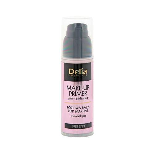 DELIA 35ml Free Skin Różowa baza rozświetlająca pod makijaż