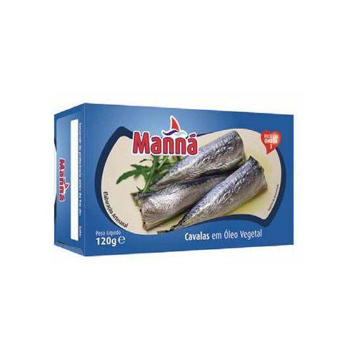 "Mini makrele portugalskie ""cavalinhas"" w oleju 120g Manná"
