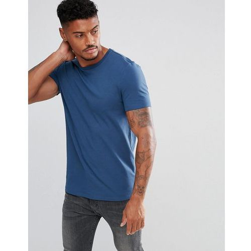 muscle fit t-shirt with crew neck - blue marki Asos