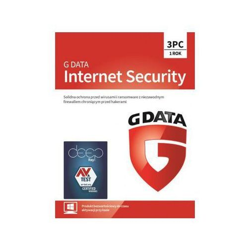 Gdata internet security 3 pc 1 rok (5901466005538)