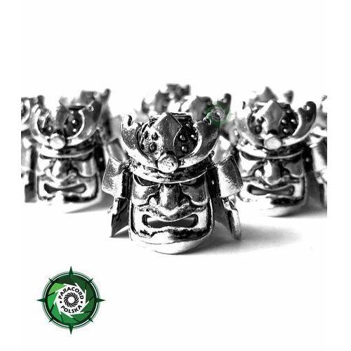 Samurajska zawieszka duża ze stopu metalu przeznaczona do wyrobów z Paracordu