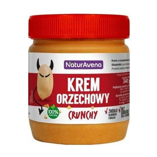 Krem orzechowy crunchy 100% bez soli/cukru 340g - marki Naturavena