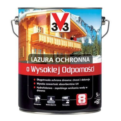 V33 Lazura ochronna o wysokiej odporności szary 5 l