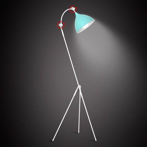 Lampa stojąca podłogowa metalowa industrialna Aldex Piko I 1x60W E27 turkus 773A20, 773A20