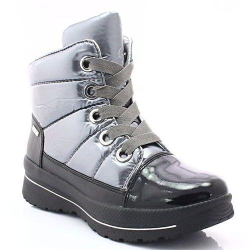 Caprice 9-26202-29 czarno-srebrne - super ciepłe śniegowce