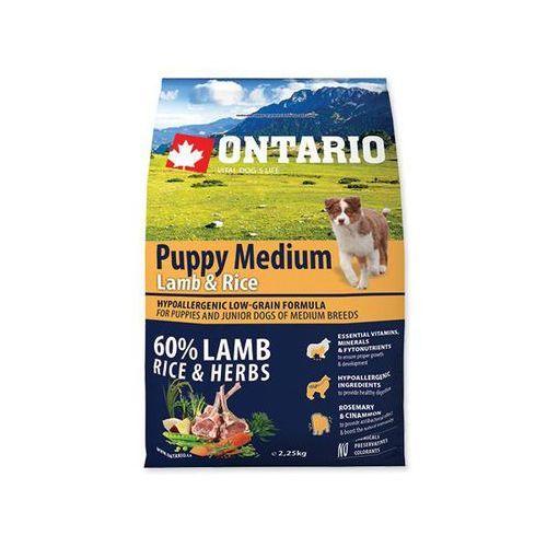 ONTARIO dog PUPPY MEDIUM lamb - 6,5kg, 1001910