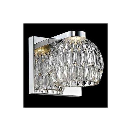 Kinkiet LAMPA ścienna AURELIA W0404-01A-B5AC Zumaline szklana OPRAWA LED 5W kula ball chrom przezroczysta