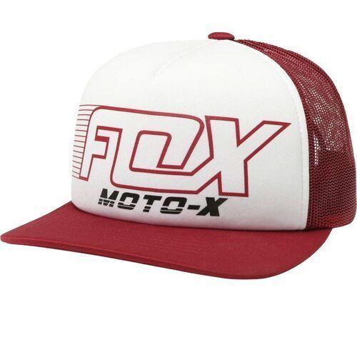 czapka z daszkiem FOX - Throttle Maniac Trucker Dark Red (208) rozmiar: OS, kolor czerwony