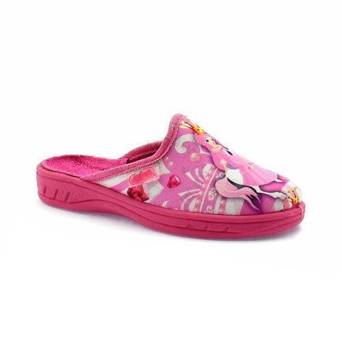 Kapcie dziecięce 707x289 jogi - różowy ||kolorowy marki Befado