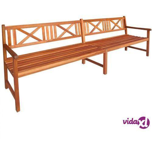 Vidaxl ławka ogrodowa, 240 cm, lite drewno akacjowe
