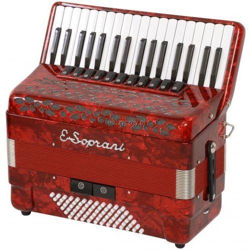 E.Soprani 744 KK 34/4/11 72/4/2 Musette akordeon (czerwony)