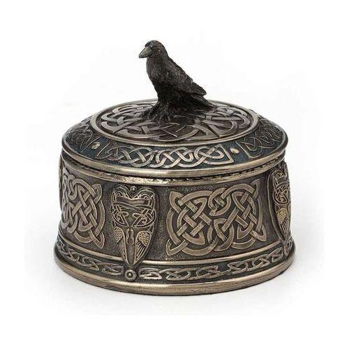 Veronese Celtycka szkatułka z krukiem (wu77542a4)
