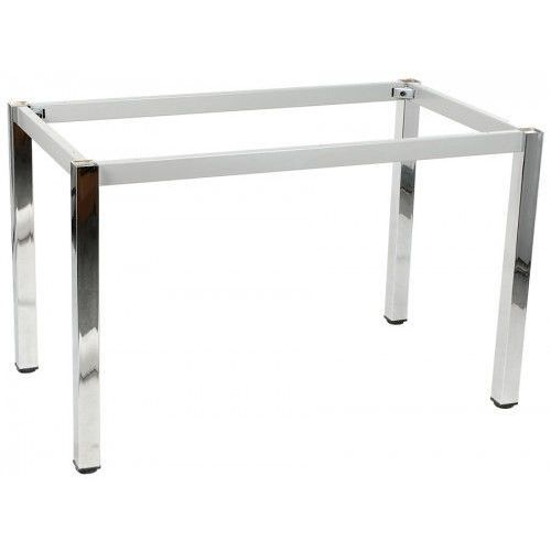 Stelaż ramowy stołu chromowany, 136x66 cm, noga kwadratowa