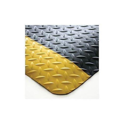 Mata zapobiegająca zmęczeniu, pcv / neopren,stała wielkość, czarny / żółty marki Coba plastics