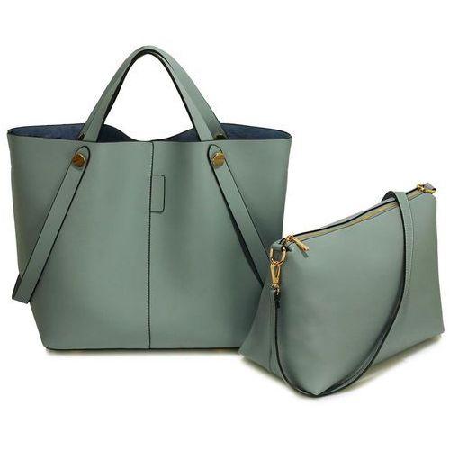 Szara torebka damska shopper bag - szary, kolor szary